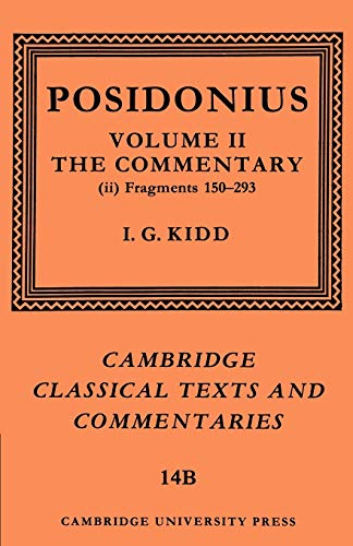 9780521604437: Posidonius: Fragments: Volume 2, Commentary, Part 2