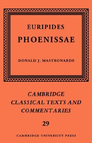 9780521604468: Euripides: Phoenissae (Cambridge Classical Texts and Commentaries)