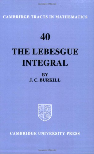 9780521604802: The Lebesgue Integral (Cambridge Tracts in Mathematics)