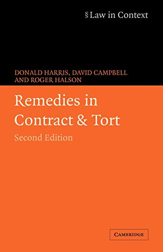 9780521606059: Remedies in Contract and Tort (Law in Context)