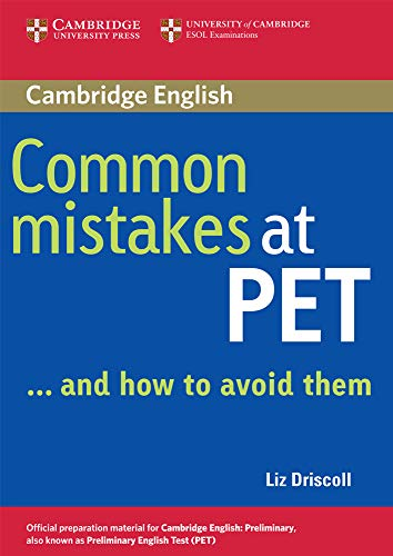 9780521606844: Common mistakes at Pet and how to avoid them. Per le Scuole superiori