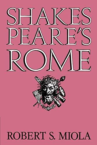 9780521607018: Shakespeare's Rome