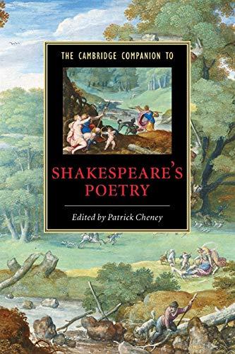 9780521608640: The Cambridge Companion to Shakespeare's Poetry (Cambridge Companions to Literature)