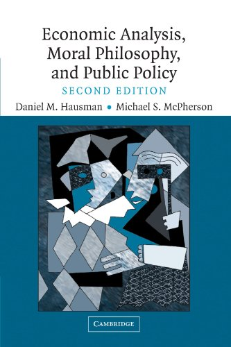 9780521608664: Economic Analysis, Moral Philosophy and Public Policy