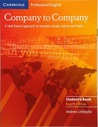 9780521609753: Company to Company 4th Student's Book (Cambridge Professional English)