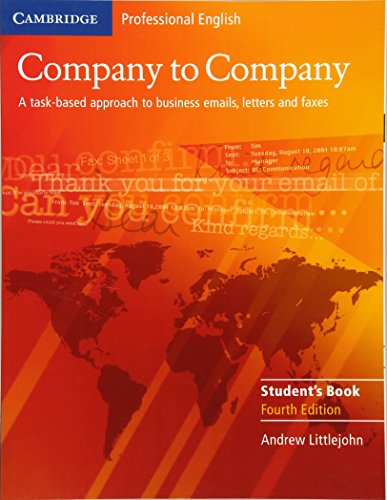 9780521609753: Company to Company Student's Book (Cambridge Professional English)