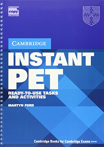 9780521611237: Instant PET: Ready-to-Use Tasks and Activities
