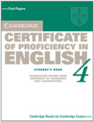 9780521611510: Cambridge Certificate of Proficiency in English 4 Student's Book: No. 4 (CPE Practice Tests)