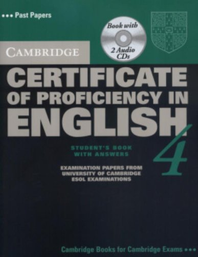 9780521611572: Cambridge Certificate of Proficiency in English 4 Self Study Pack (CPE Practice Tests)