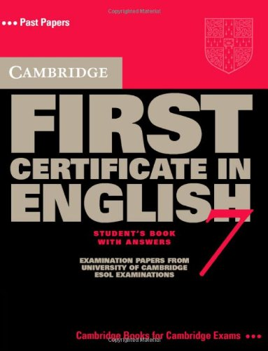 9780521611596: Cambridge First Certificate in English 7 Student's Book with Answers (FCE Practice Tests) (No. 7)