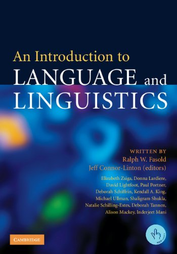 9780521612357: An Introduction to Language and Linguistics Paperback