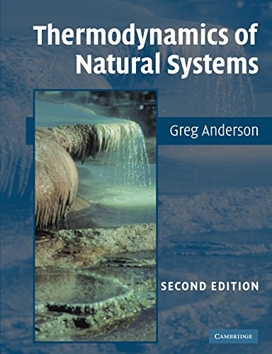 9780521612555: Thermodynamics of Natural Systems