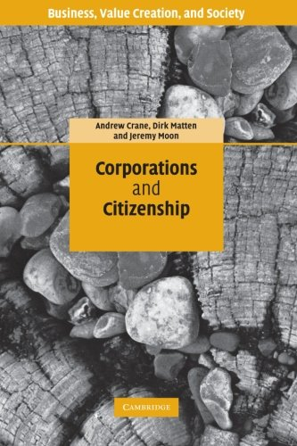 9780521612838: Corporations and Citizenship: Business, Responsibility and Society (Business, Value Creation, and Society)