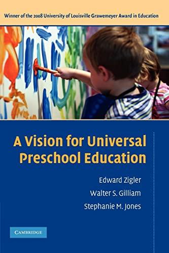 A Vision for Universal Preschool Education (9780521612999) by Edward Zigler