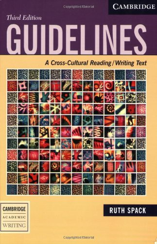 9780521613019: Guidelines: A Cross-Cultural Reading/Writing Text (Cambridge Academic Writing Collection)