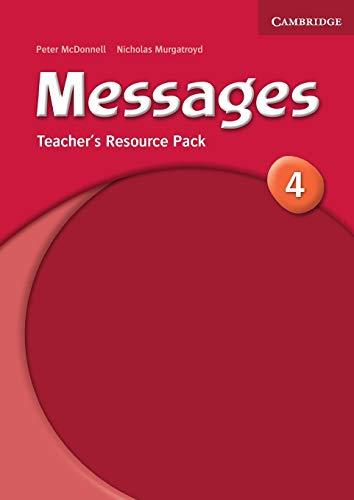 9780521614429: Messages 4 Teacher's Resource Pack