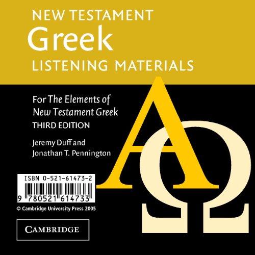 9780521614733: New Testament Greek Listening Materials: For the Elements of New Testament Greek