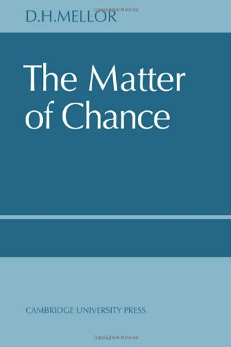 9780521615983: The Matter of Chance