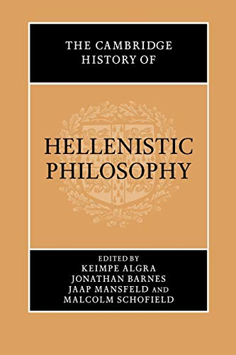9780521616706: The Cambridge History of Hellenistic Philosophy