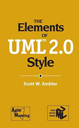 9780521616782: The Elements of UML(TM) 2.0 Style