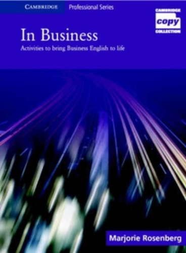 9780521617291: In Business: Activities to Bring Business English to Life (Cambridge Copy Collection)
