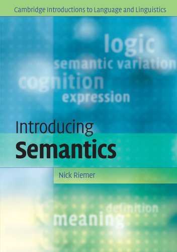 9780521617413: Introducing Semantics (Cambridge Introductions to Language and Linguistics)
