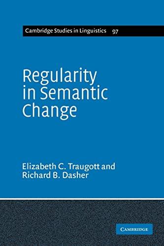 9780521617918: Regularity in Semantic Change (Cambridge Studies in Linguistics)