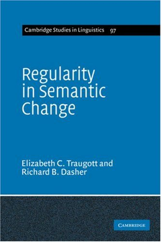 9780521617918: Regularity in Semantic Change (Cambridge Studies in Linguistics)