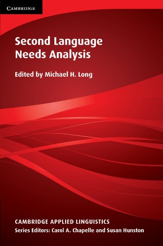 9780521618212: Second Language Needs Analysis (Cambridge Applied Linguistics)