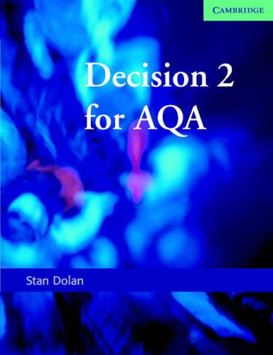 9780521619172: Decision 2 for AQA (SMP AS/A2 Mathematics for AQA)