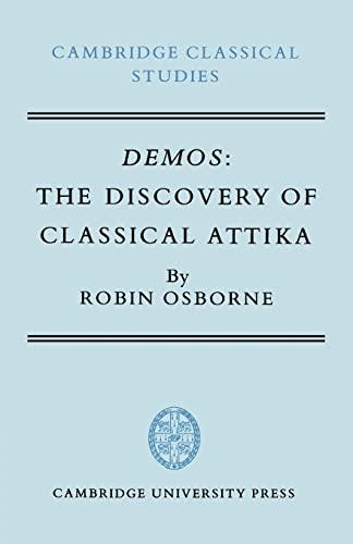 9780521619264: Demos: The Discovery of Classical Attika (Cambridge Classical Studies)