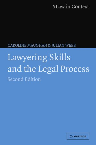 9780521619509: Lawyering Skills and the Legal Process (Law in Context)