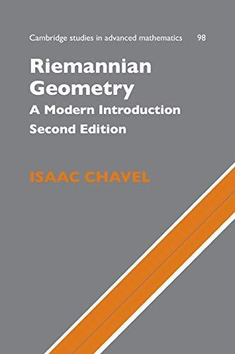 9780521619547: Riemannian Geometry: A Modern Introduction (Cambridge Studies in Advanced Mathematics)