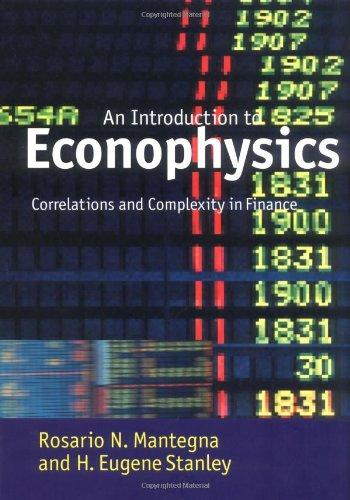 9780521620086: Introduction to Econophysics: Correlations and Complexity in Finance