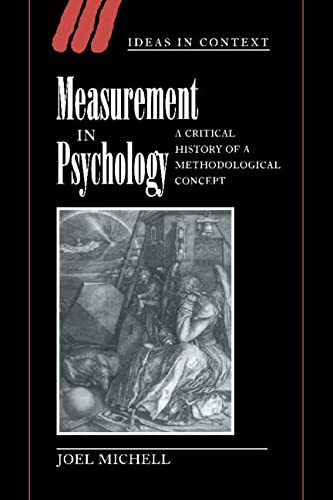 9780521621205: Measurement in Psychology Hardback: A Critical History of a Methodological Concept (Ideas in Context)