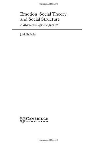 9780521621908: Emotion, Social Theory, and Social Structure: A Macrosociological Approach