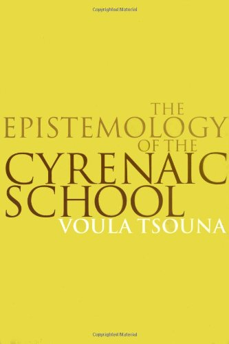 9780521622073: The Epistemology of the Cyrenaic School