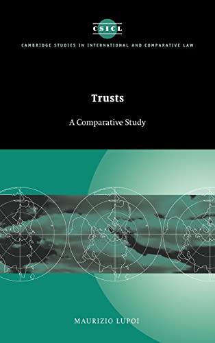 9780521623292: Trusts: A Comparative Study