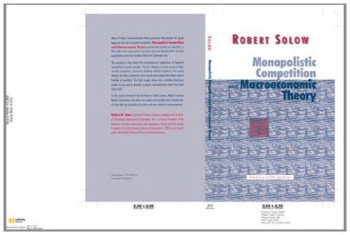9780521623384: Monopolistic Competition and Macroeconomic Theory (Federico Caffè Lectures)