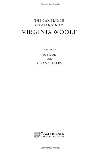 9780521623933: The Cambridge Companion to Virginia Woolf (Cambridge Companions to Literature)