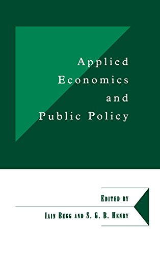 9780521624145: Applied Economics and Public Policy (Department of Applied Economics Occasional Papers)