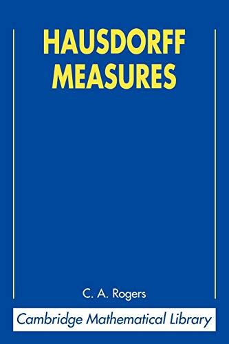 9780521624916: Hausdorff Measures 2nd Edition Paperback (Cambridge Mathematical Library)