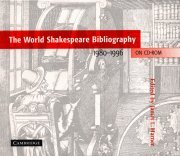 9780521625357: The World Shakespeare Bibliography on CD-ROM 1980-1996