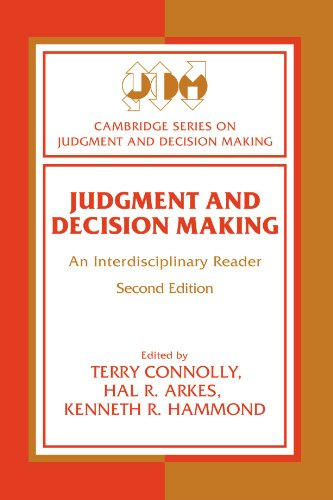 9780521626026: Judgment and Decision Making: An Interdisciplinary Reader (Cambridge Series on Judgment and Decision Making)