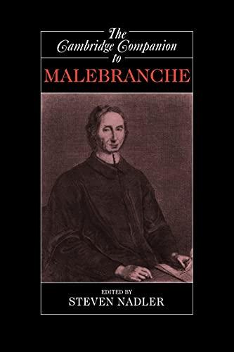 9780521627290: The Cambridge Companion to Malebranche