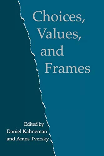9780521627498: Choices, Values, and Frames Paperback