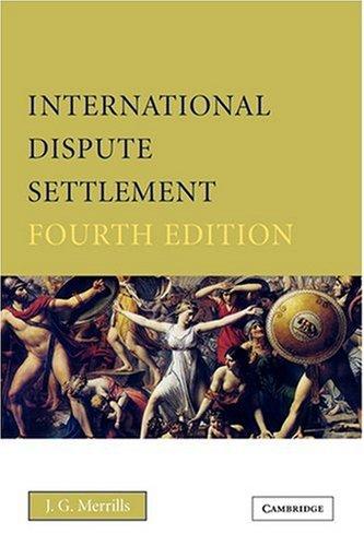 9780521630030: International Dispute Settlement
