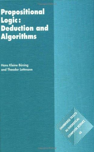 9780521630177: Propositional Logic: Deduction and Algorithms