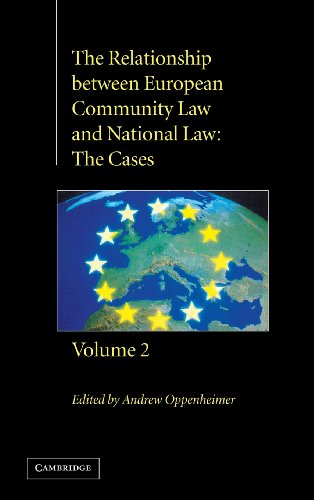 9780521630986: The Relationship between European Community Law and National Law: The Cases (The Relationship between European Community Law and National Law 2 Volume Hardback Set) (Volume 2)