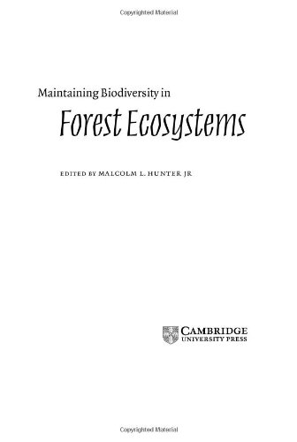 9780521631044: Maintaining Biodiversity in Forest Ecosystems